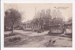 CP 38 SIMANDRES La Place Et La Mairie - Autres Communes