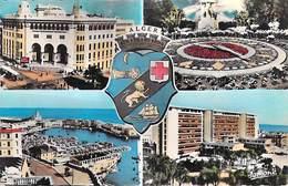 Afrique-Algérie- Souvenir D' ALGER El Djezaïr) (blason Horloge Florale )(Editions : Jomone Alger 1011)*PRIX FIXE - Algerien