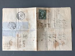 France N°11 Seul Sur Document, 1860 De Bordeaux - (B1899) - 1849-1876: Periodo Clásico