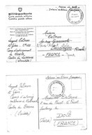 Berne, Lucerne . 2 Cartes D'internement De Miltaires Français Au Camp De Hasle (Lucerne) Et Kallnach (Berne). Juin 1940. - Documenti Storici