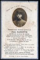 Image Religieuse Pieuse  + Militaire Guerre 1914 1918 Prière Pour Un Soldat Mort à Douaumont  + Photo  Voir Explic - Devotion Images