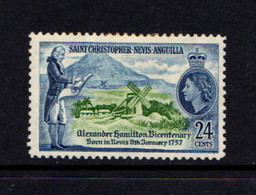SAINT  CHRISTOPHER  NEVIS AND ANGUILLA    1957    Bicentenary  Of  Alexanda  Hamilton    MH - St.Christopher, Nevis En Anguilla (...-1980)