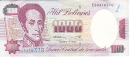 BILLETE DE VENEZUELA DE 1000 BOLIVARES DEL 17 MARZO 1994 CALIDAD EBC (XF)  (BANKNOTE) - Venezuela
