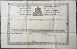 1866 Certificat De Reliquaire Relique - Religion & Esotérisme
