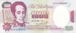 BILLETE DE VENEZUELA DE 1000 BOLIVARES DEL 5 DE FEBRERO 1998 SIN CIRCULAR  (BANKNOTE) UNCIRCULATED - Venezuela