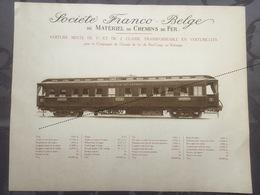 Affiche - Planche Train FRANCO BELGE DE MATERIEL DE CHEMINS DE FER Voiture Pour Le Congo BCK - Spoorweg