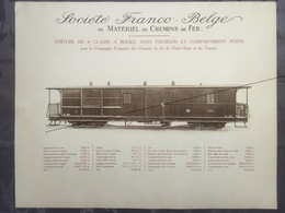 Affiche - Planche Train FRANCO BELGE DE MATERIEL DE CHEMINS DE FER Pour L'indo-chine Et Du Yunnan - Spoorweg