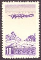 Maroc 1944 - Airmail - Plane On Palm Grove 10F - MNH - Maroc (1891-1956)