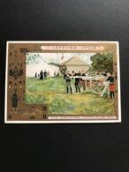 Chromo LU – Lefèvre Utile 1902 – Fêtes Franco – Russes – L'examen Du Nouveau Canon - Lu