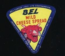 Etiquette Fromage  La Vache Qui Rit  Portion  Bel Mild Cheese Spread  Signé Benjamin Rabier Southampton - Käse