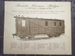 Affiche - Planche Train FRANCO BELGE DE MATERIEL DE CHEMINS DE FER Pour Sao Thome Et Principe Portugal - Ferrocarril