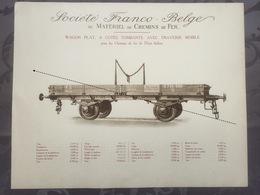 Affiche - Planche Train FRANCO BELGE DE MATERIEL DE CHEMINS DE FER De L'état Italien Italie - Ferrocarril