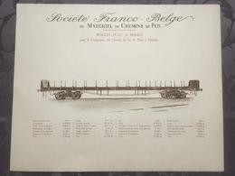 Affiche - Planche Train FRANCO BELGE DE MATERIEL DE CHEMINS DE FER Pour Chemin De Paris à Orléans - Ferrocarril