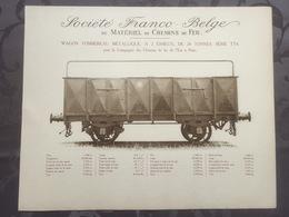 Affiche - Planche Train FRANCO BELGE DE MATERIEL DE CHEMINS DE FER Pour Chemin De L'est à Paris - Spoorweg