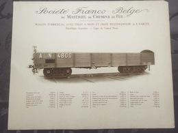 Affiche - Planche Train FRANCO BELGE DE MATERIEL DE CHEMINS DE FER Pour Ligne Du Central Norte Argentine - Spoorweg