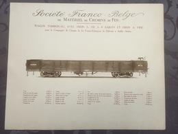 Affiche - Planche Train FRANCO BELGE DE MATERIEL DE CHEMINS DE FER Franco Ethiopien éthiopie Djibouti Adis Abeba - Spoorweg