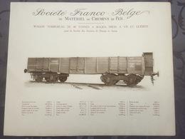 Affiche - Planche Train FRANCO BELGE DE MATERIEL DE CHEMINS DE FER Aciéries De Denain Et Anzin - Spoorweg