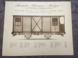 Affiche - Planche Train FRANCO BELGE DE MATERIEL DE CHEMINS DE FER SNCV Tram Tramways - Chemin De Fer