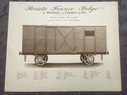 Affiche - Planche Train FRANCO BELGE DE MATERIEL DE CHEMINS DE FER De L'état Egyptien Egypte - Ferrocarril