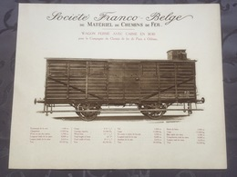 Affiche - Planche Train FRANCO BELGE DE MATERIEL DE CHEMINS DE FER Chemin De Paris à Orléans - Chemin De Fer