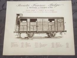 Affiche - Planche Train FRANCO BELGE DE MATERIEL DE CHEMINS DE FER Paris à Lyon Et à La Méditerranée PLM - Spoorweg