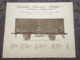 Affiche - Planche Train FRANCO BELGE DE MATERIEL DE CHEMINS DE FER De L'état Belge SNCB - Chemin De Fer