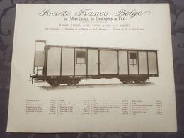 Affiche - Planche Train FRANCO BELGE DE MATERIEL DE CHEMINS DE FER Pour Sao Thome Et Principe Portugal - Spoorweg