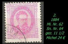 1880 - Mi. Nr. 62 - 1862-1884 : D.Luiz I