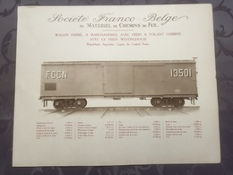 Affiche - Planche Train FRANCO BELGE DE MATERIEL DE CHEMINS DE FER Pour Ligne Du Central Norte Argentine - Ferrocarril