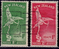 New Zealand 1947, Eros Statue, Scott# B30-31, Used - Gebraucht