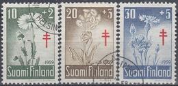 FINLANDIA 1959 Nº 486/488 USADO - Gebraucht
