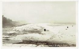 OSTENDE - Carte Photo - La Plage En Hiver - Bevroren Zee -  N° 612 G. Pottier - Oostende