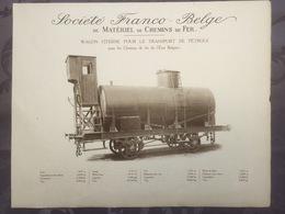 Affiche - Planche Train FRANCO BELGE DE MATERIEL DE CHEMINS DE FER Pour L'état Bulgare Bulgarie - Chemin De Fer