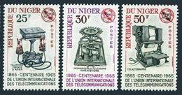 1965Niger 99-101100 Years Of UIT - Niger (1960-...)