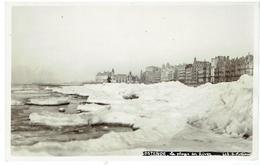 OSTENDE - Carte Photo - La Plage En Hiver - Bevroren Zee -  N° 613 G. Pottier - Oostende