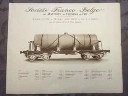 Affiche - Planche Train FRANCO BELGE DE MATERIEL DE CHEMINS DE FER Pour L'etat Egyptien Egypte - Ferrocarril