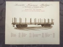 Affiche - Planche Train FRANCO BELGE DE MATERIEL DE CHEMINS DE FER Pour Ligne Du Central Norte Argentine - Chemin De Fer