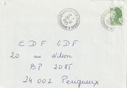 """Lettre De """"Coulounieix Chamiers - A"""" (Dordogne, 24) Du 10-12-1985 Pour Périgueux (Dordogne-24) Sur YT 2375 - Marcophilie (Lettres)"""
