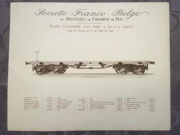 Affiche - Planche Train FRANCO BELGE DE MATERIEL DE CHEMINS DE FER Pour Le Chili - Chemin De Fer