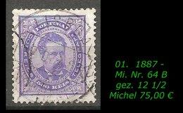 1880 - Mi. Nr. 64 B - R- - 1862-1884 : D.Luiz I