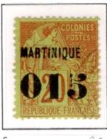 Ex Colonie Française  *  Martinique *  Poste  6  Obl - Martinique (1886-1947)