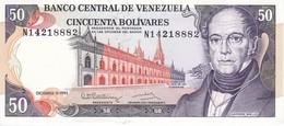 BILLETE DE VENEZUELA DE 50 BOLIVARES DEL AÑO 1992 SIN CIRCULAR  (BANKNOTE) UNCIRCULATED - Venezuela