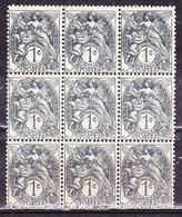 Francia 1900 Blanc 1 C. Blocco Nuovo MNH** - Francia