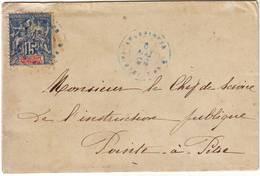Lettre De CAPESTERRE GUADELOUPE Pour Pointe A Pitre 6 Mai 1898 - Guadeloupe (1884-1947)