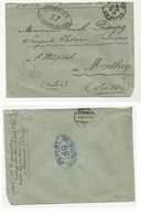 CENSURE 159 Et 37 DE 1917 Lettre Pour La Suisse - Guerre De 1914-18