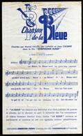 Partition Chanson Pub La Bleue Pastis Film Symphonie Bleue Chanteurs Distilleries Lemercier Fougerolles Rare TB V.Expl - Partitions Musicales Anciennes