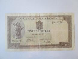 Romania 500 Lei 1941 Banknote - Romania
