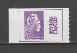 FRANCE / 2019 / Y&T N° AA 1656 (C) ** : Marianne D'YZ TVP International (du Carnet 1656-C1) X 1 Coin De Carnet - Adhesive Stamps