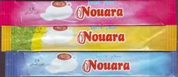 "Sucre - 3 Sticks De Sucre Vide "" Nouara"" Autre Design -  Algérie. - Sucres"