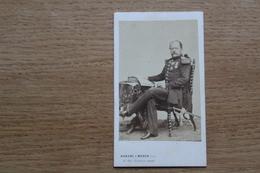 Cdv Photographie Militaire   Second Empire  Général ULRICH ?  Képi Brodé  Par Duroni - Guerra, Militares